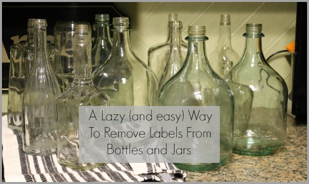 a lazy way to remove bottle and jar labels miss kopy kat