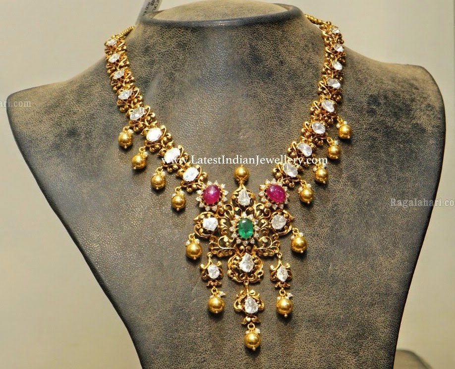 Classy Pachi Diamond Antique Necklace