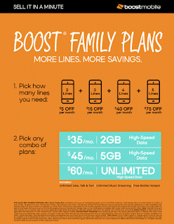 Boost Family Plans Poster