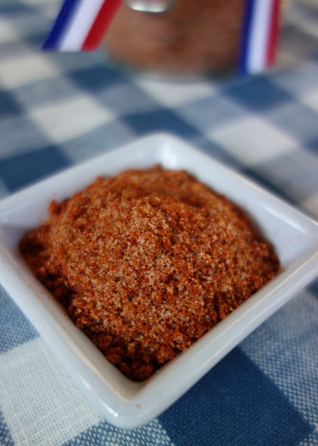 BBQ Seasoning - homemade seasoning for chicken, pork or beef. SO much better than the store-bought stuff! Salt, brown sugar, paprika, sugar, garlic powder, onion powder, black pepper and dry mustard. Will keep for 2 months. A MUST for all your summer grilling!