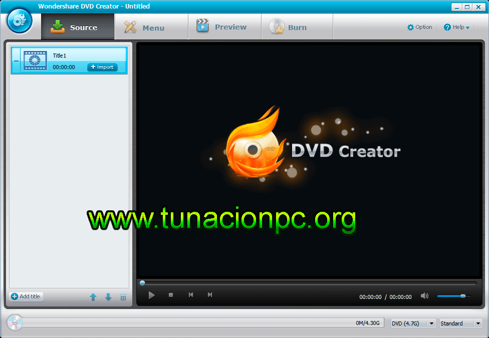 Wondershare DVD Creator Crea Presentación para DVD