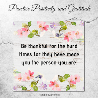 practise positivity and gratitude