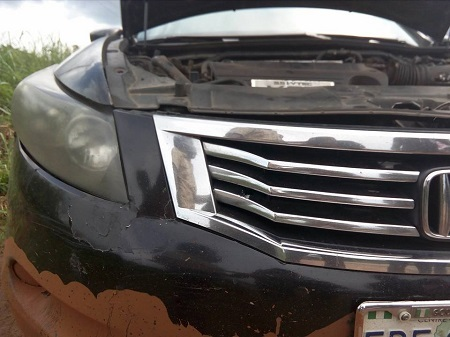 Police Officers Allegedly Open Fire on a Man's Car in Broad Daylight in Abuja...Their Reason Will Shock You (Photos)