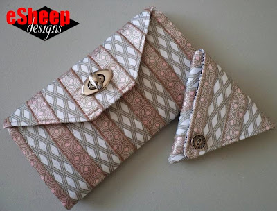 ribbon wallet project crafted by eSheep Designs