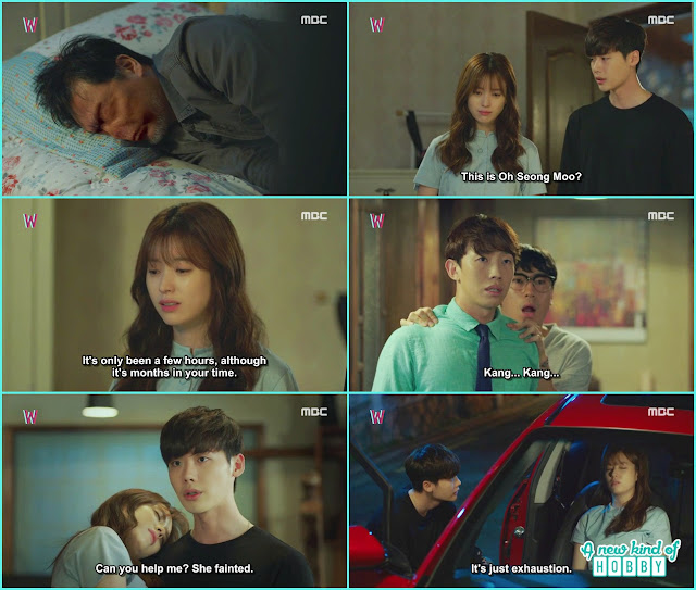 kang chul and yeon jo at writer sung moo room and chul shocked to see writer face is disappear - W - Episode 12 Review