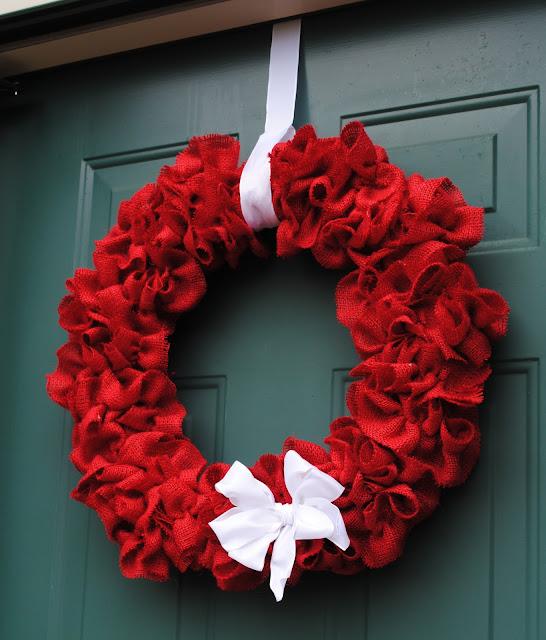 New South Design Ruffled Burlap Wreath For 20