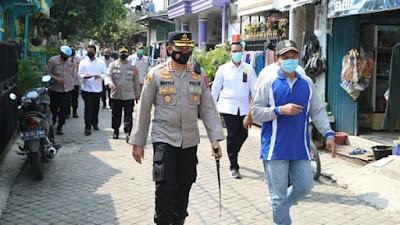 PPKM Darurat, Kapolresta Tangerang Tinjau Zona Merah di Perumahan Cikupa