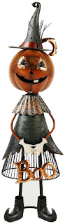 Jackolantern Witch Metal Boo Decor for Halloween