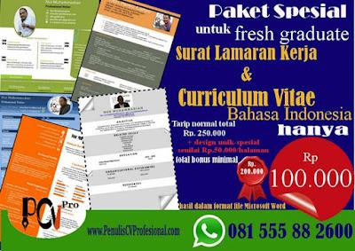 Jasa Pembuatan Curriculum Vitae dan Surat Lamaran Kerja Murah