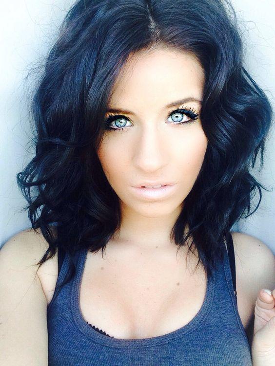 Aquí las mejores imágenes de Color de pelo negro azulado - Tendencias  2016 6dff55efd9de