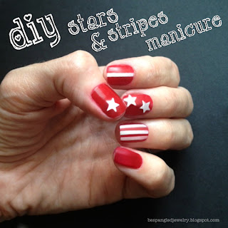 Stars and Stripes Nail Art Manicure Tutorial