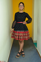 Aditi Myakal in Spicy Red Short Skirt and Transparent Black Top at at Big FM For Promotion of Movie Ami Tumi 085.JPG