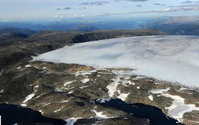 Glaciar de domo, Flesvik, Noruega