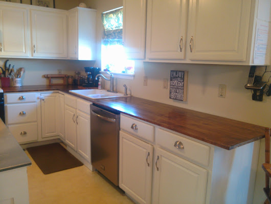 Brand New Countertops for $120! Eat that expensive countertop people! Part 3