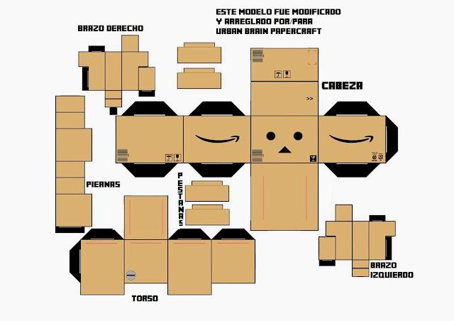 Danbo Papercraft Template Cake Ideas And Designs