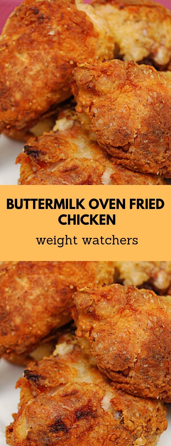 Buttermilk Oven Fried Chicken #weightwatchers #healthy #ketogenic #friedchicken
