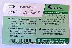 ETECSA Internet Card