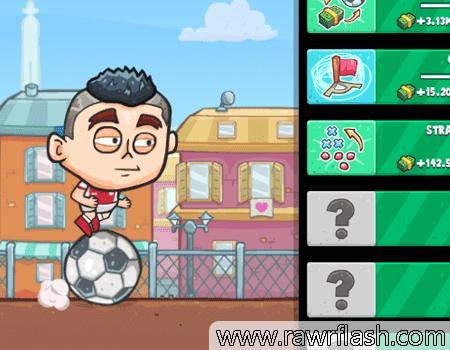 Um jogo para melhorar sua carreira no futebol.