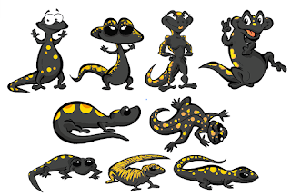 Un peu de caractère Design autour d'une salamandre pour un Bar… Ici ceux non retenus ©Guillaume Néel