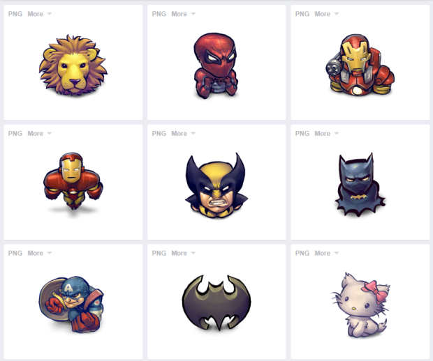 Descarga grautitamente 97 iconos de superheroes desde iconfinder.