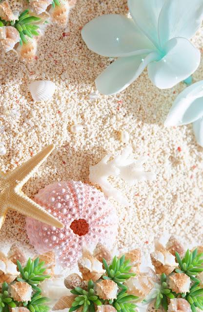 Tarjeta de Invitación para Boda en Playa con Estrella de Mar