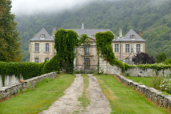 Exterior of French Chateau Gudanes in south of France