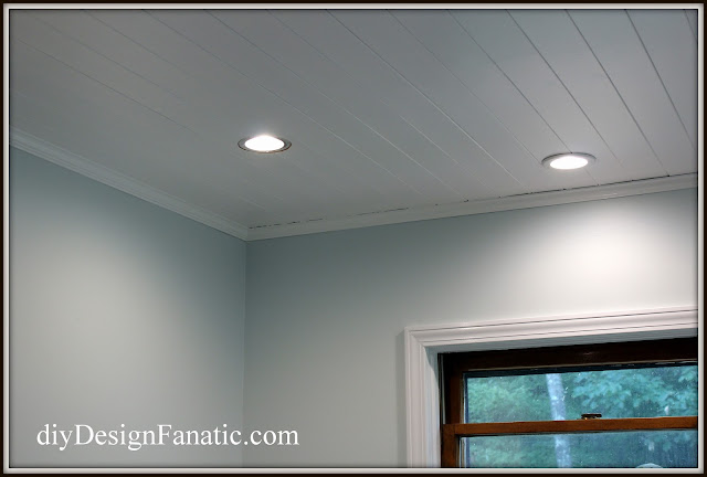 plank ceiling,, cottage kitchen,  kitchen reno, cottage, cottage style, farmhouse, farmhouse style, diyDesignFanatic.com, Sherwin Williams Topsail