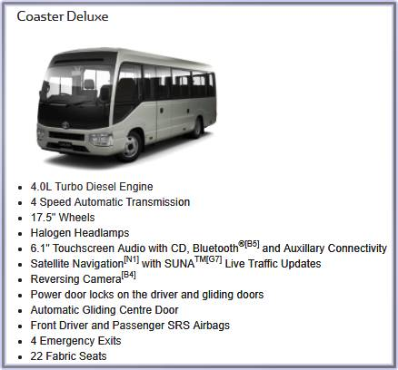 2019 Toyota Coaster Specs, Release Date, And Price