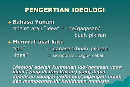 Pengertian umum Ideologi, Unsur, dan Fungsi Ideologi