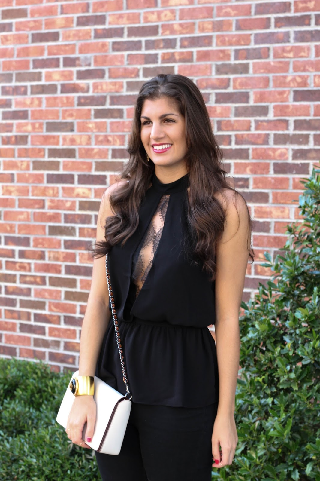 Summer Date Night Style - Black Lace Top, www.Neutral2Neon.com