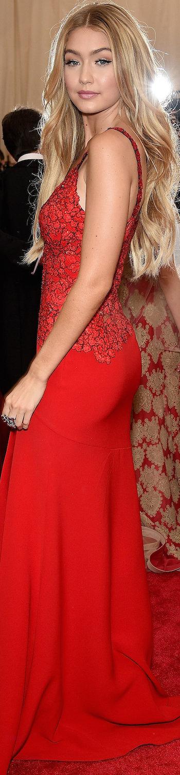Gigi Hadid in Diane Von Furstenberg 2015 MET Gala