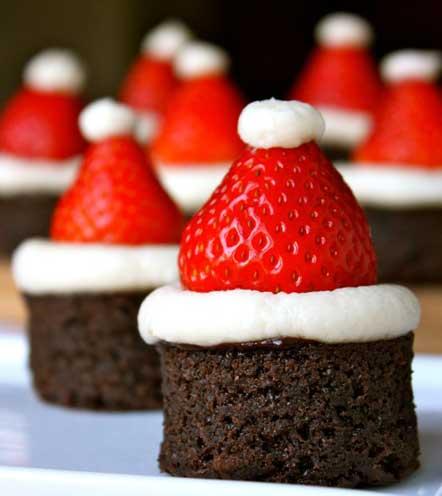 как украсить пирожные на новый год