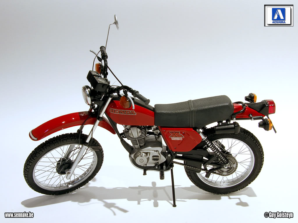 racing scale models honda xl 125 s 1979 by sennake aoshima. Black Bedroom Furniture Sets. Home Design Ideas