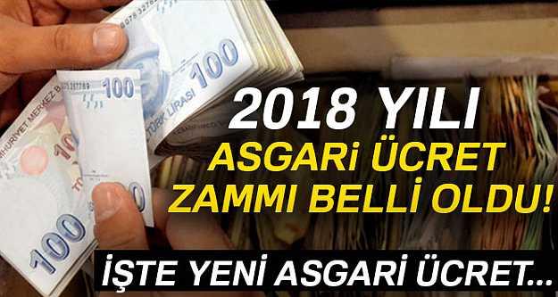 AGİ dahil 2018 Asgari Ücret detayları
