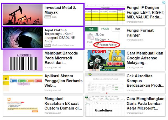 Membuat Iklan Matched Content Adsense Menjadi Menarik