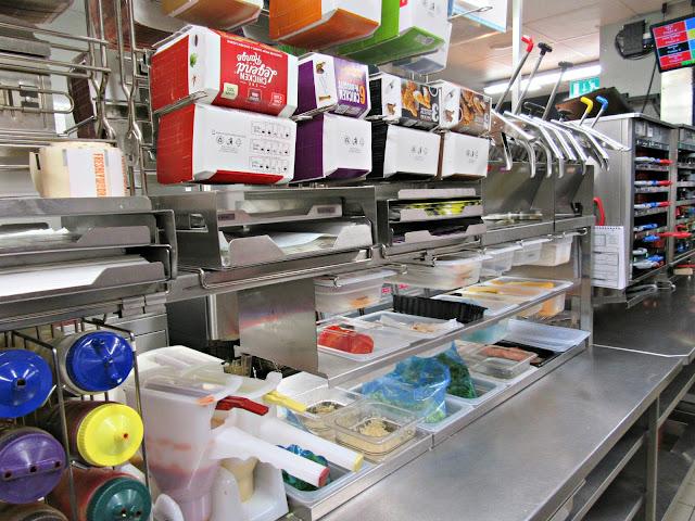 Your New McDonald's, burgers, burger making station
