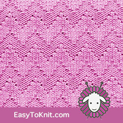 Knit Purl 38: Shadow Chevron | Easy to knit #knittingstitches #knitpurl