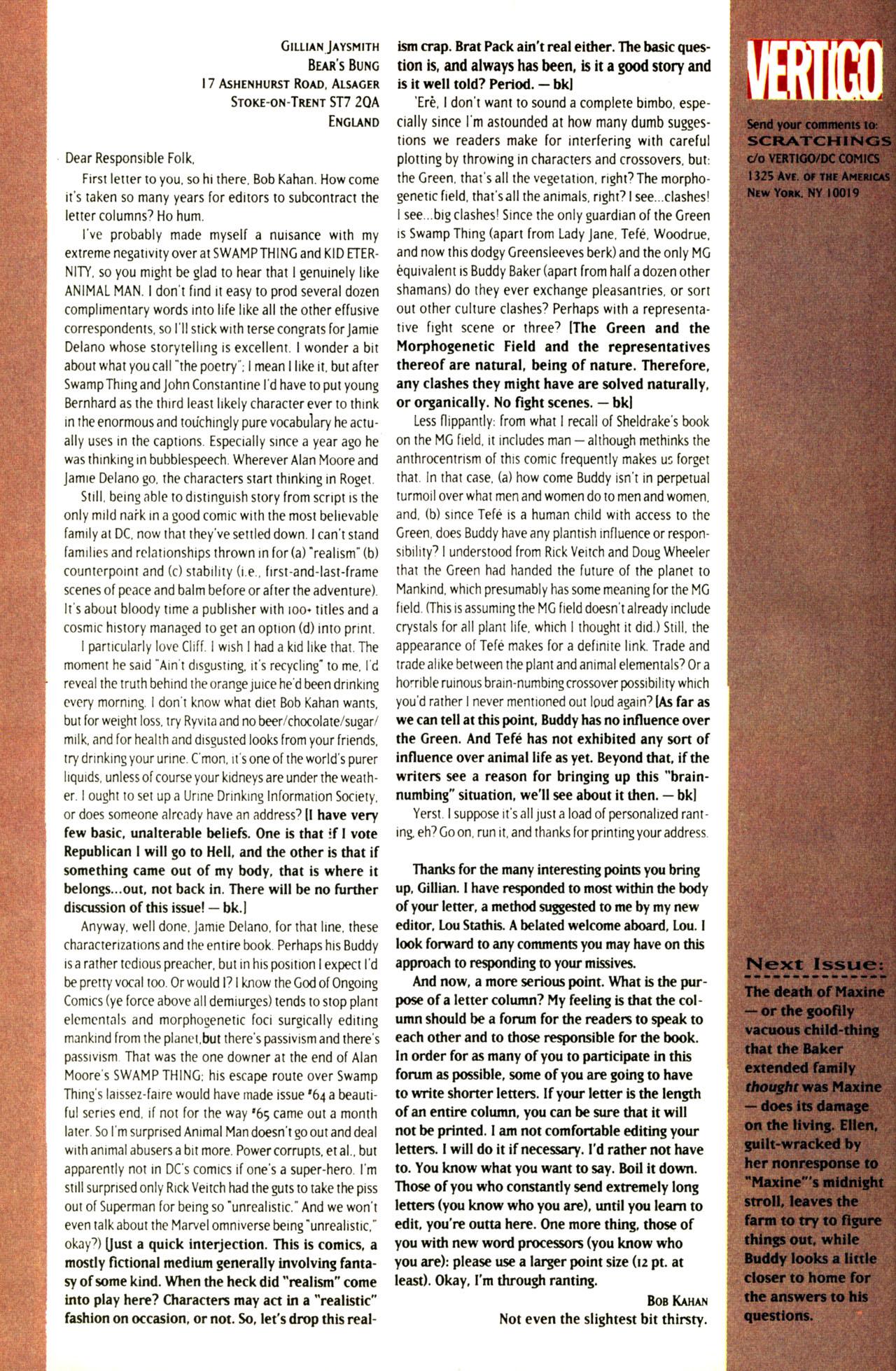 Read online Animal Man (1988) comic -  Issue #69 - 27