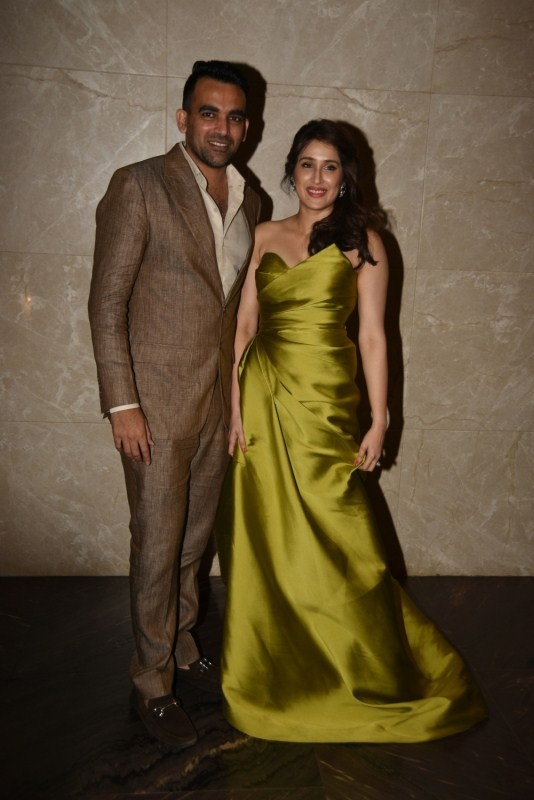 Celebs at Sagarika Ghatge and Zaheer Khans Engagement Bash