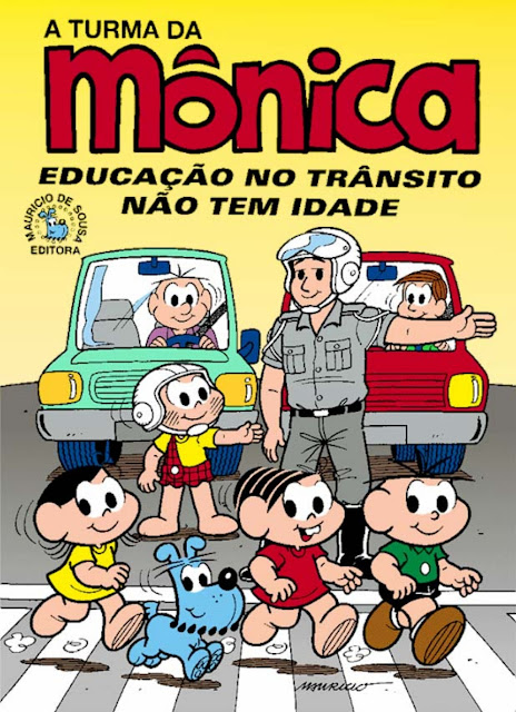 cartilha turma da monica transito