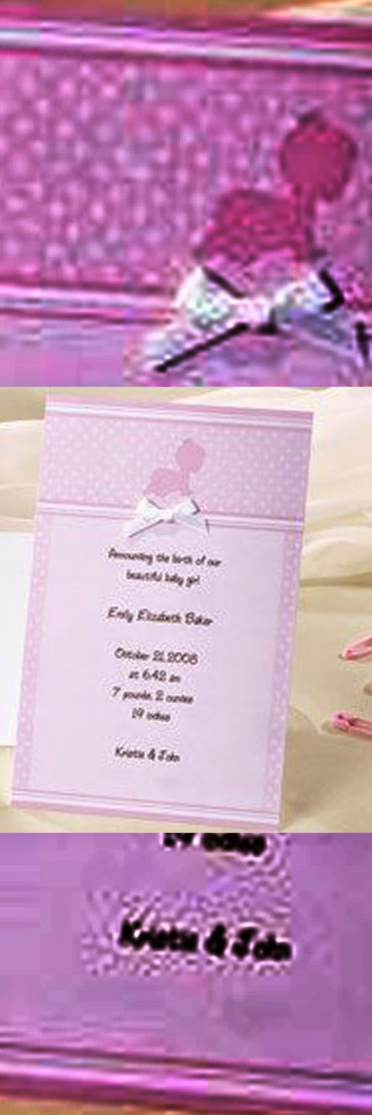 Baby announcement cards