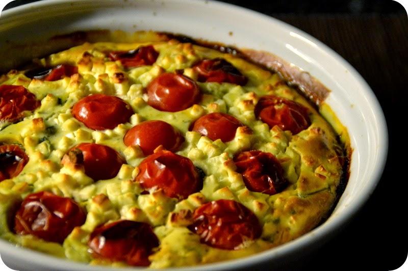 Käseauflauf mit Tomate und Zucchini