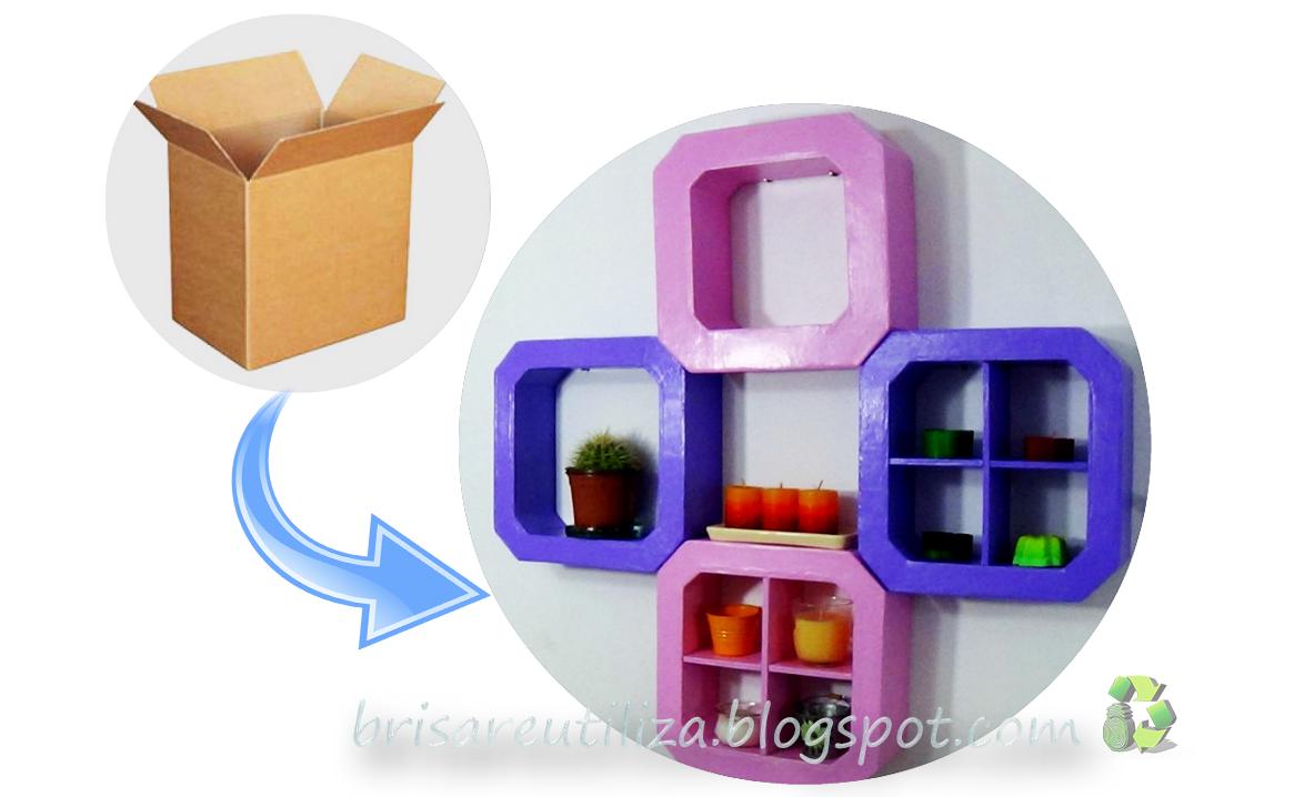 Ecobrisa Diy Estanter As Hechas De Cart N Reciclaje  ~ Estanterias De Carton Reciclado