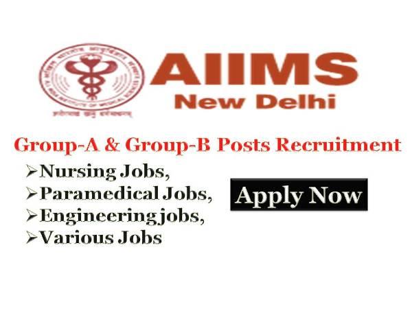 AIIMS, AIIMS New Delhi, Nursing Jobs, Staff Nurse, Nursing Recruitment,