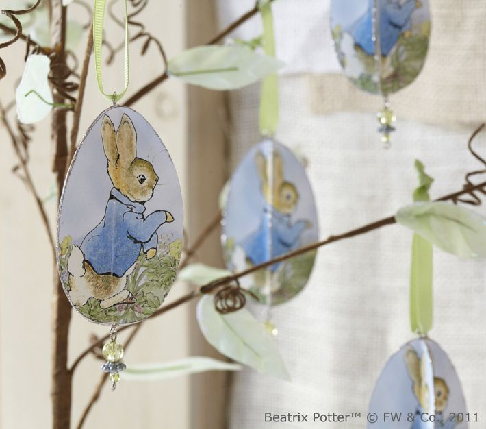Be Book Bound Beatrix Potter S Easter Glitter Ornaments