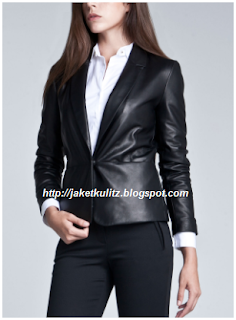 Gambar Jaket Kulit Kantoran Wanita