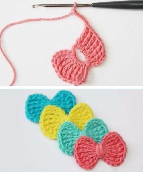 Easy Treble Stitch Bow - Free Pattern