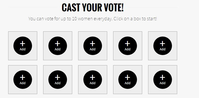 Cast vote www.fhm.com.ph/100sexiestwomen2016