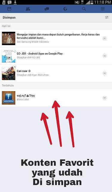 Simpan kiriman facebook