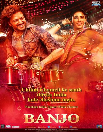 Poster Of Banjo 2016 Hindi 550MB HDRip 720p ESubs HEVC Watch Online Free Download downloadhub.in